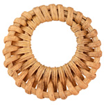 Natural Rattan-Style Woven Gypsy Hoop Focal 45x39-45mm