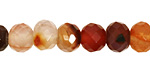 Carnelian (natural) Faceted Rondelle 10mm