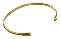 Antique Brass Link Bangle 6 inches