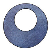 Lillypilly Denim Blue Leather Large Open Round 50mm