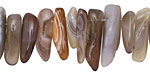 Botswana Agate Stick Drops 4-8x13-21mm