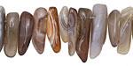 Botswana Agate Stick Drops 4-8x13-21mm