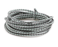 Light Grey & Seafoam Braided Cotton Bolo Cord 2mm