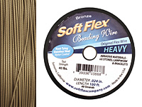 "Soft Flex Bronze Metallic .024"" (Heavy) 49 Strand Wire 100ft."