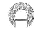 Zola Elements Antique Silver (plated) Hammered Arc Focal w/ Bar 30x28mm