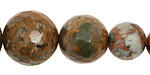 African Green Opal Faceted Round Graduated 8-18mm