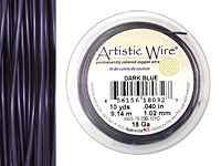 Artistic Wire Dark Blue 18 gauge, 10 yards