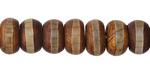Tibetan (Dzi) Agate Rondelle 7-8x11-12mm
