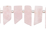 Rose Quartz (matte) Stick Slice Focal Set 6-8x18-25mm