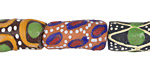 African Handpainted Bouquet Mix Powder Glass (Krobo) Beads 15-27x8-13mm