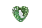 Grace Lampwork Summer Morning Heart 18-20mm