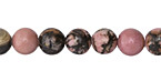 Rhodonite (w/ extra black matrix) Round 8mm