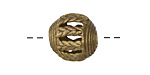 African Brass Braided Open Window (large hole) Round 14-16mm