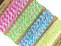 Gumdrop Bamboo Cord 20 lb, 29.8 ft x 4 colors