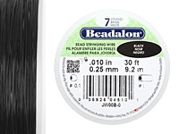 "Beadalon Black .010"" 7 Strand Wire 30ft."