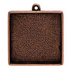 Nunn Design Antique Copper (plated) Grande Square Bezel Pendant 34x39mm