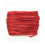 Apple Red Waxed Nylon Flat Braided Cord 1mm