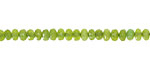Apple Green Agate Faceted Rondelle 2x4mm