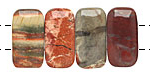 Apple Jasper 2-Hole Rounded Rectangle 10x20mm
