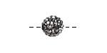 Jet Hematite Pave (w/ Preciosa Crystals) Round 10mm