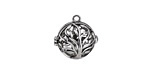 Antique Silver Finish Tree of Life Diffuser Locket 17x18mm