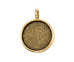 Nunn Design Antique Gold (plated) Large Circle Bezel Pendant 23x30mm