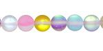 Multi Fused Glass AB (matte) Round 8mm