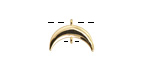 Gold Finish Crescent Focal w/ Charm Loop 15x10mm