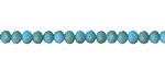 Matte Sky Blue w/ Bronze Luster Crystal Faceted Rondelle 4mm