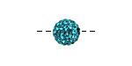 Blue Zircon Pave (w/ Preciosa Crystals) Round 10mm