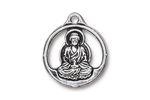TierraCast Antique Silver (plated) Openwork Buddha Pendant 21x24mm