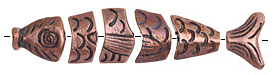 Greek Bronze (plated) Worry Fish 80mm