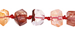 Red Rutilated Quartz Faceted Nugget 7-10x11-14mm