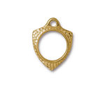 TierraCast Gold (plated) Forged Toggle Ring 18x23.5mm