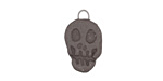 Gaea Ceramic Black Skull Charm 12x20mm