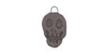 Gaea Ceramic Black Skull Charm 12x20mm