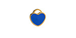 Classic Blue Enamel Gold (plated) Stainless Steel Heart Charm 11x12mm