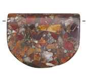 Red Creek Jasper w/ Pyrite Banner Pendant 43-48x34-38mm