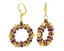 Honeycomb Earrings Pattern for CzechMates