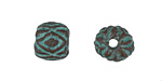 Greek Copper (plated) Patina Diamond Pattern Bead 10x12mm