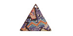 Abstract Etched & Printed Gold Finish Triangle Focal 22x19mm