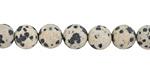 Dalmatian Jasper (matte) Round 8mm