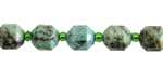 African Turquoise Energy Tube 9x8mm