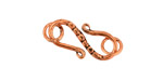Antique Copper S-Hook & Ring with Divets and Xs 23x9mm