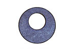 Lillypilly Denim Blue Leather Mini Open Round 25mm