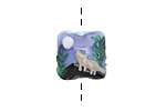 Grace Lampwork Howling at the Moon Pillow 15mm