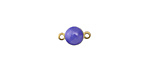 Zola Elements French Blue Brass Coin Link 12x6mm