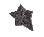 Lava Rock Rough Cut Starburst Focal 25-30x31-36mm