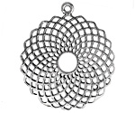 Zola Elements Antique Silver (plated) Openwork Madala Focal 36x42mm