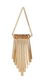 Zola Elements Matte Gold Finish Long Flattened Graduated Paddle Set on Triangle Ring 21x80mm